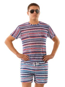 белая мужская футболка из мягкой эластичной сеточки