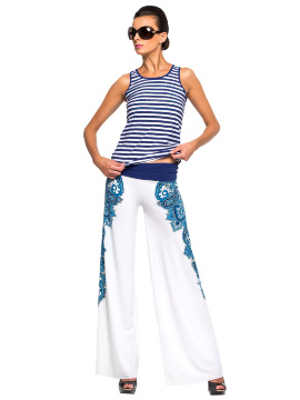 Комплект пляжный брюки+топ Lora Grig WX 041608 LG Blanche - multicolor