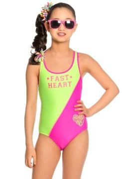 Купальник для девочек слитный Arina GS 141702 Heart